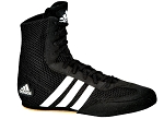 Adidas Box Hog Boxing Shoes (Black/White)