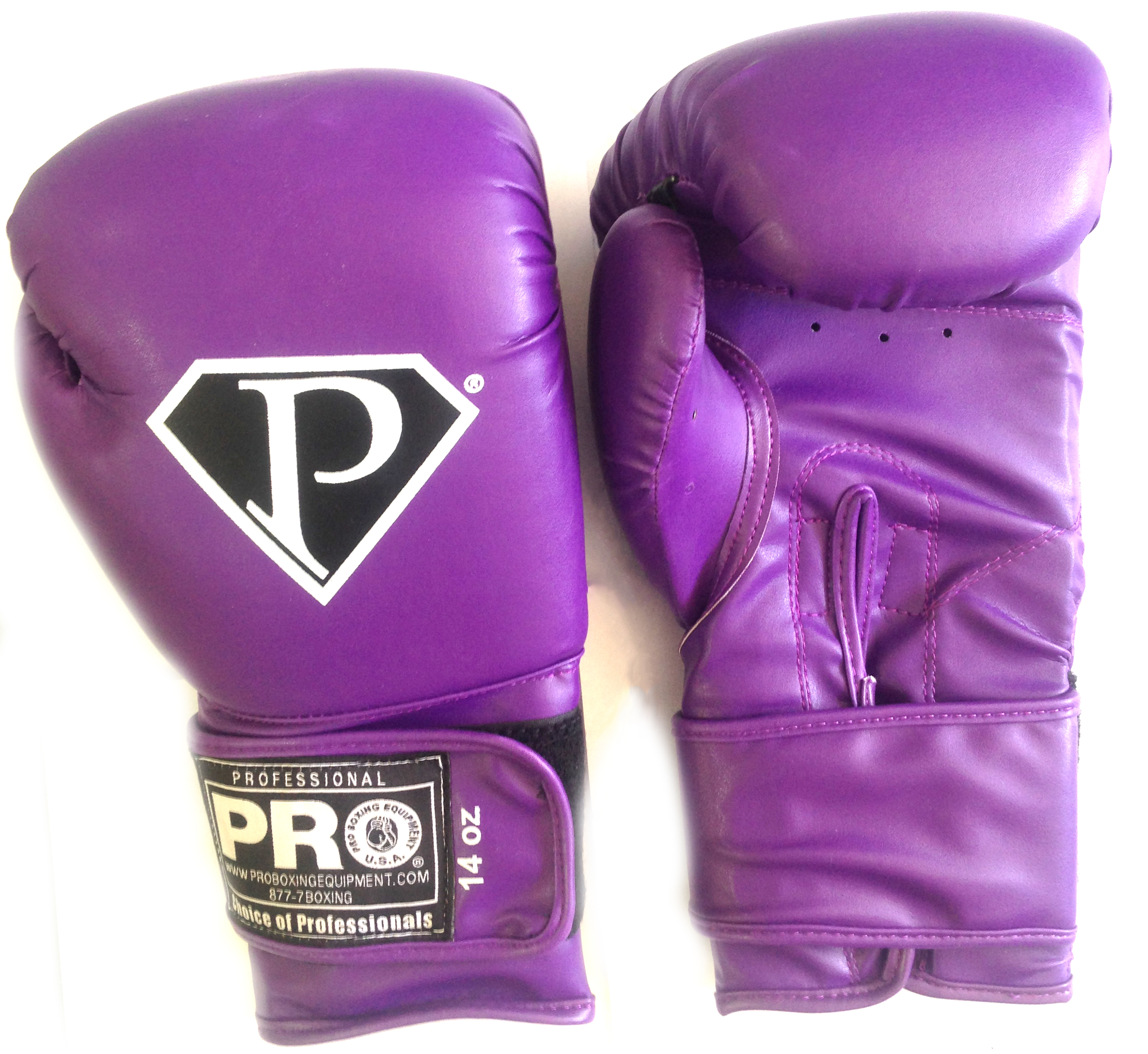 Purple grant boxing gloves