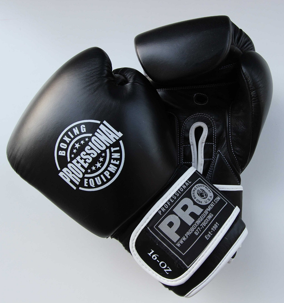 Deluxe Weight Lifting Gloves St12007: PRO Leather Deluxe Training Gloves Black