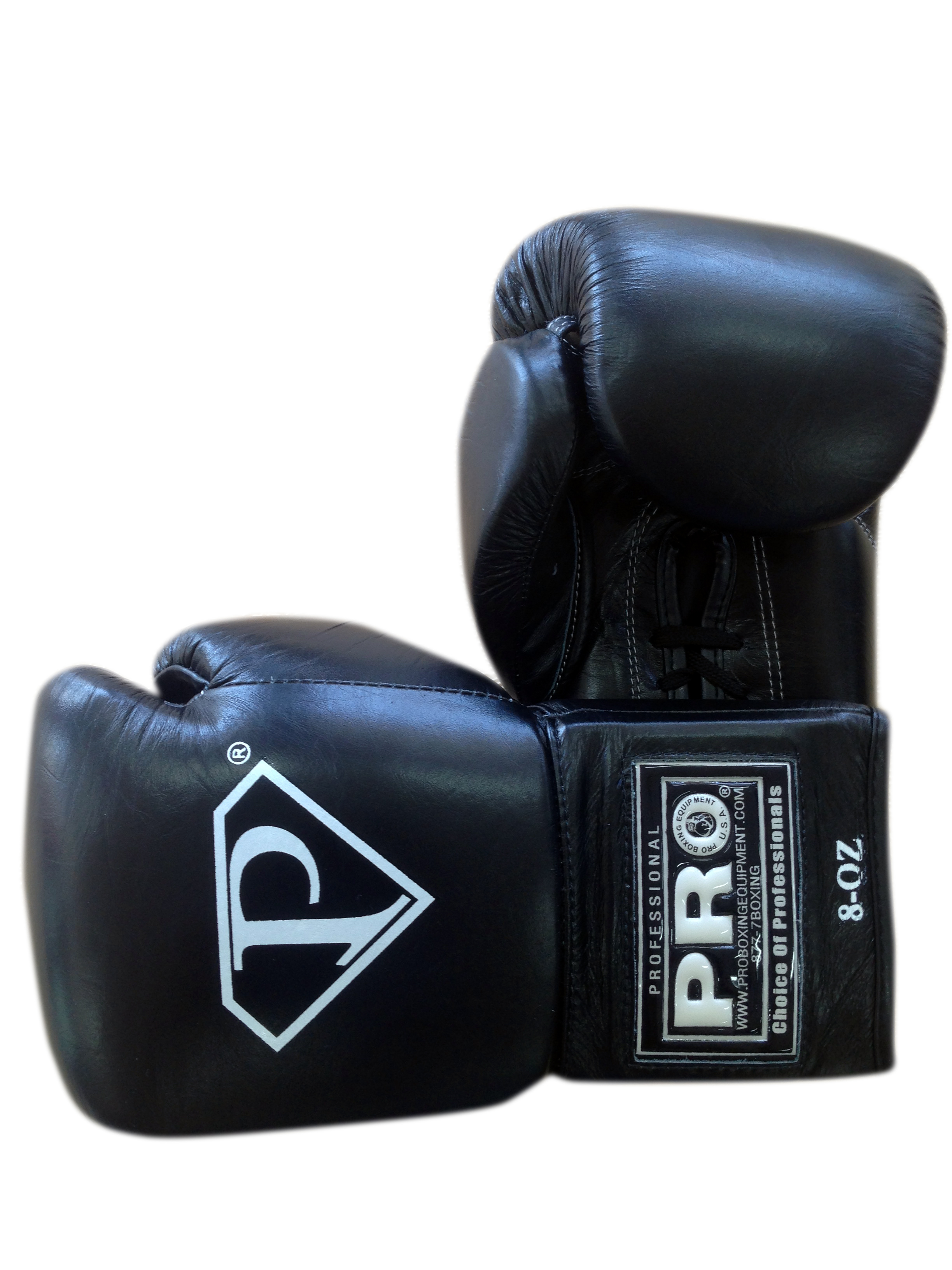 PRO Revolt Lace Up Boxing Gloves Black