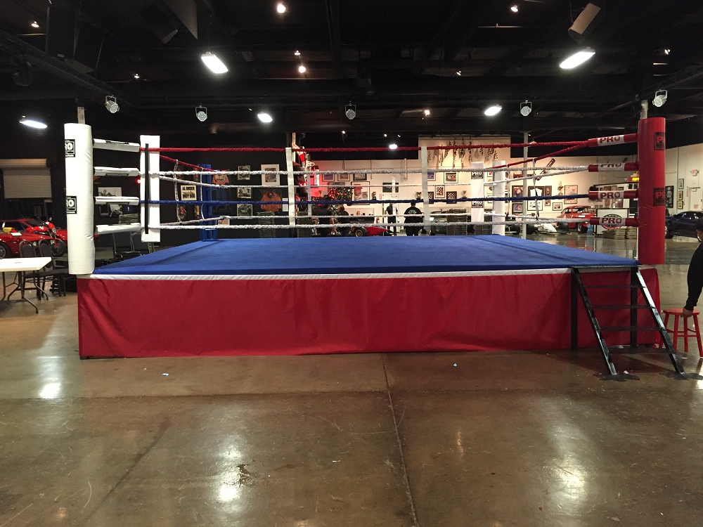PRO BOXING RING (18'X18') Wood Platform Made in USA