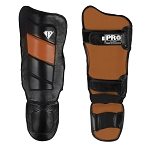 PRO Boxing MMA Shin guards Black Brown