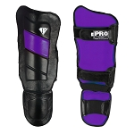 PRO Leather Shin guards Black Purple