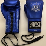 AFG BOXING GLOVES LACE UP METALLIC BLUE