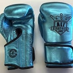 AFG BOXING GLOVES LACE UP METALLIC TURQUOISE