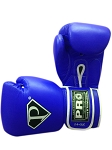 PRO Leather Deluxe Training Gloves Blue