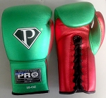 PRO Boxing Equipment Lace Up Boxing Gloves Metallic colors