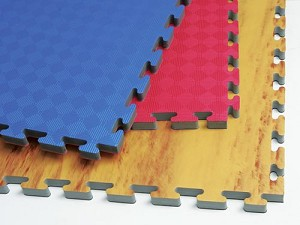 Reversible Interlocking Puzzle Gym Mats, 1""