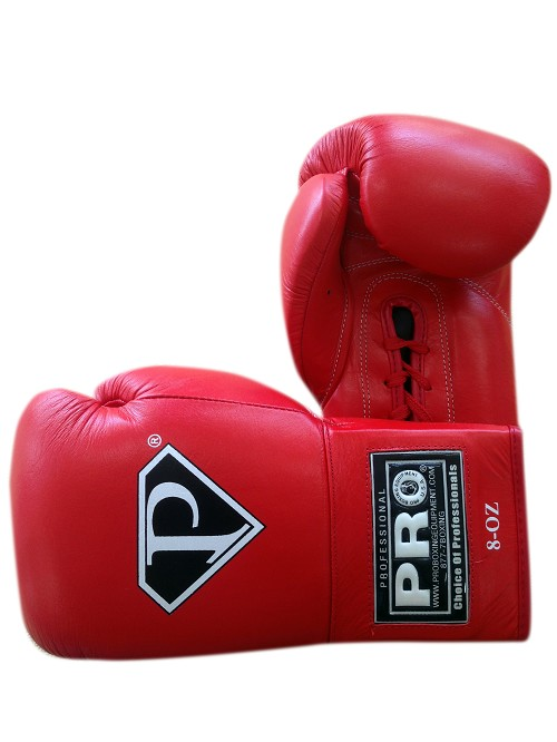 PRO Revolt Premium Lace Up Boxing Gloves Red