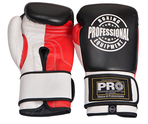Professional Boxing Training Gloves Leather Velcro