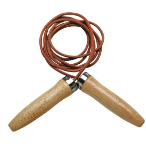 PRO Leather Jump Rope Wooden Handles