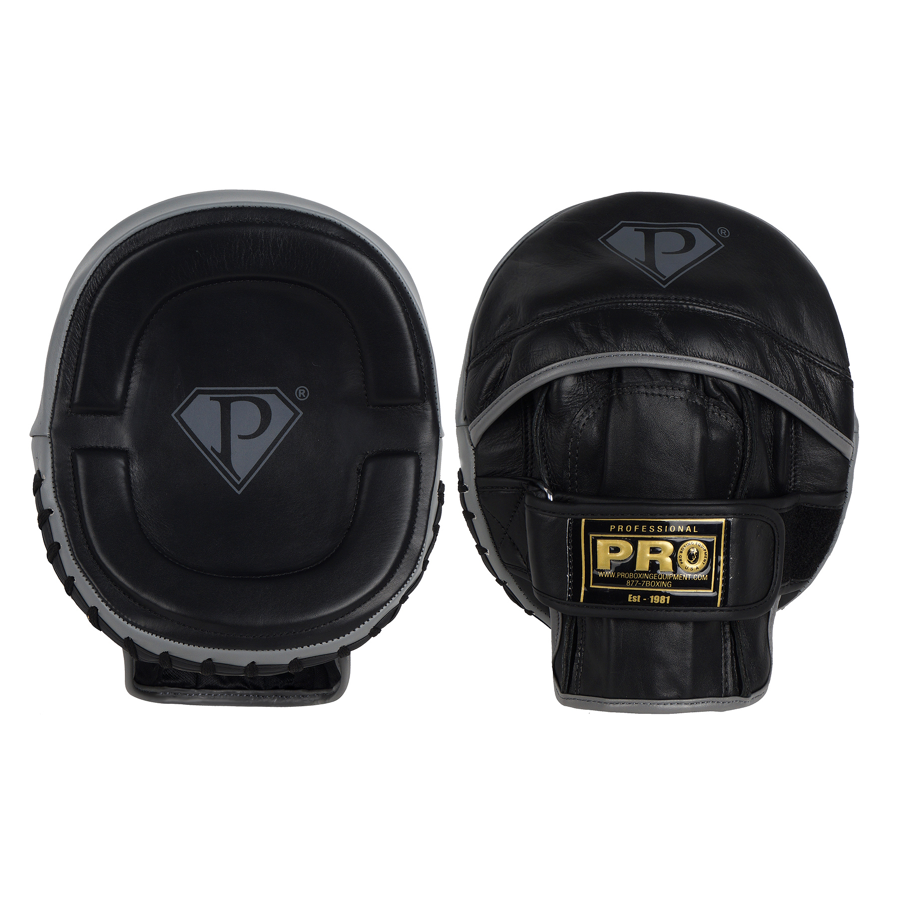 PRO Deluxe Contoured Micro Punch Mitts Leather