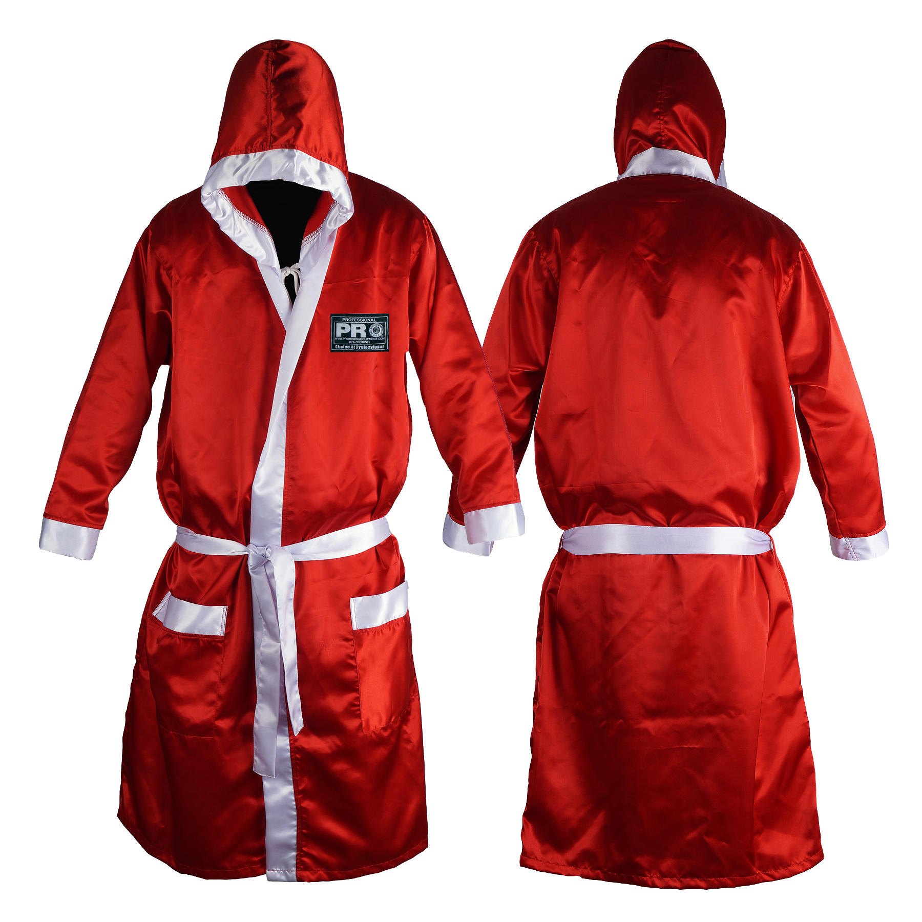 PRO Boxing Robe with Hood in Satin Polyester