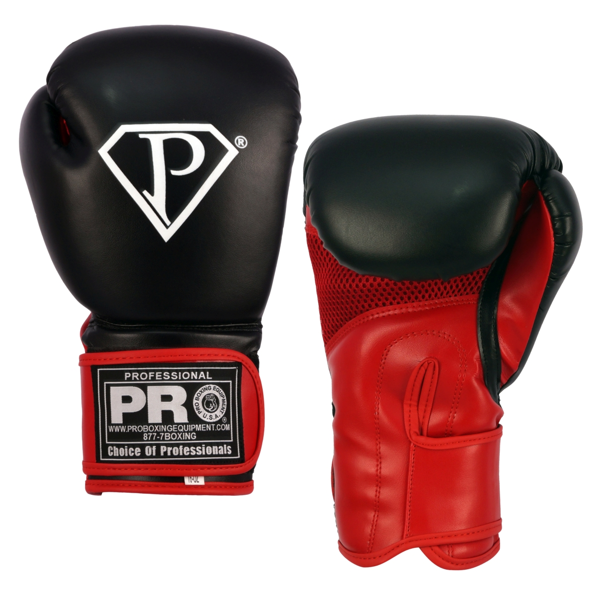 PRO Boxing Gloves Black Red