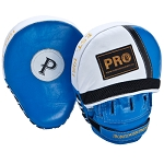 PRO Leather Curve Focus Mitts, Blue