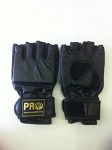 PRO LEATHER MMA GEL GLOVES