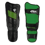 PRO MMA Shin guards Black Green