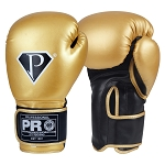 PRO Boxing Gloves Gold Black