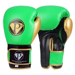 PRO Boxing Gloves Neon Green Black Gold