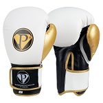 PRO Boxing Gloves White Black Gold