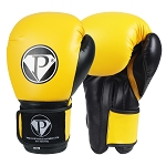 PRO Boxing Gloves Yellow Black