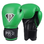 PRO Boxing Gloves Green Black