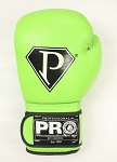 PRO BOXING GLOVES NEON GREEN