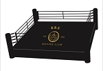 PRO Boxing Ring w/ Complete Wood, 16 x 16 custom logo Made in U.S.A.