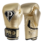 PRO BOXING GLOVES METALLIC GOLD