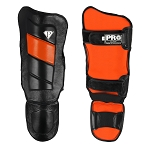 PRO MMA Shin guards Black Orange