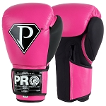 PRO BOXING GLOVES METALLIC PINK BLACK