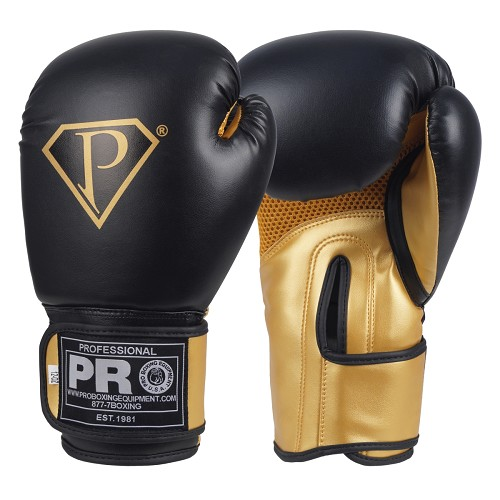 PRO Boxing Gloves Black Gold