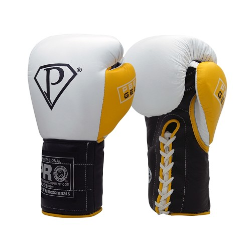 PRO GEL White Black & Yellow Boxing Gloves