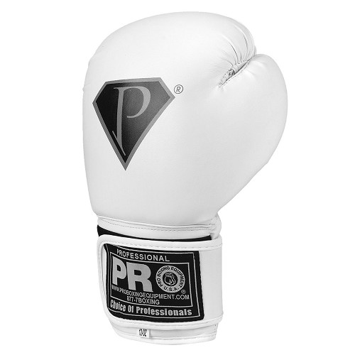PRO Deluxe Boxing Gloves Super White