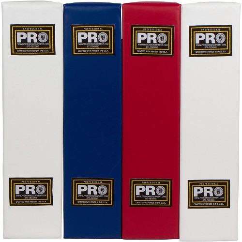 Custom Corner Pads With Logo Imprinted (full 4 piece set 2 white 1 red 1 blue)