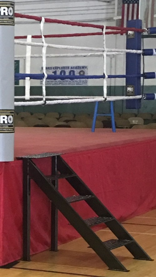 PRO Boxing Metal Ring Stairs Made in USA