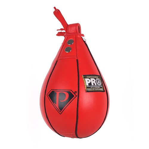 PRO Boxing Speed Bag Red Leather
