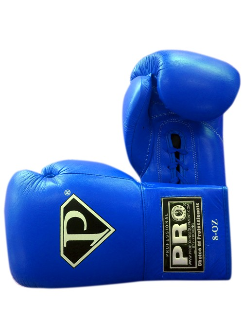 PRO Revolt Lace Up Boxing Gloves Blue