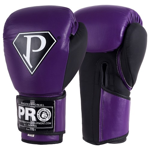 PRO BOXING GLOVES METALLIC PURPLE BLACK