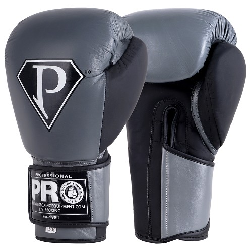 PRO BOXING GLOVES CARBON GRAY BLACK
