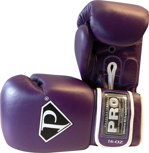 Pro Leather Deluxe Training Gloves Purple