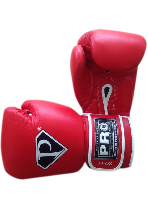 PRO Leather Deluxe Training Gloves Red